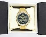 Женские наручные часы Guess (Гесс), золото с черным циферблатом, фото 6