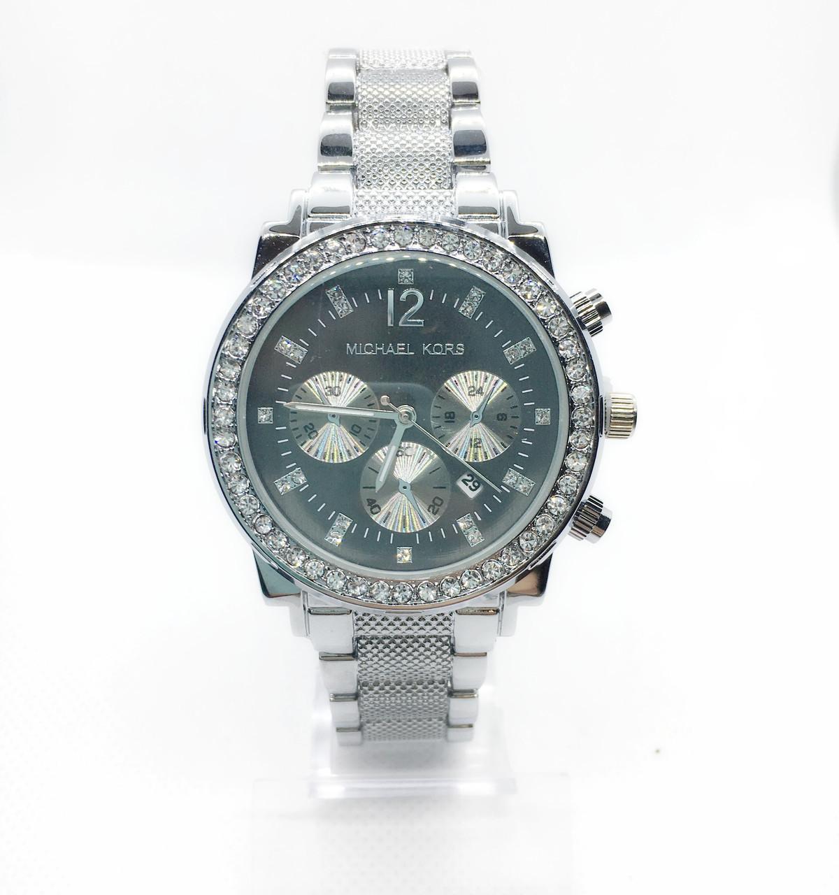 Женские наручные часы Mісhаеl Коrs (в стиле Майкл Корс), серебристо-черный цвет