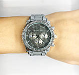 Женские наручные часы Mісhаеl Коrs (в стиле Майкл Корс), серебристо-черный цвет, фото 5