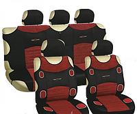 Майка сидения полный комплект красно-черный велюр Prestige MILEX 7249/7