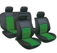 Чехлы авто сидений комплект черно-зеленые Tango 24016/33 Milex Польша