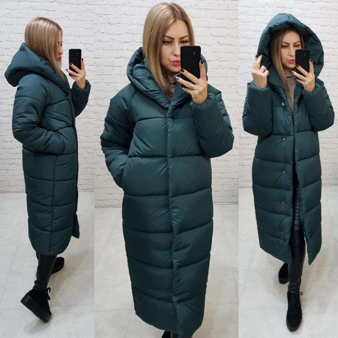 Пальто зима, артикул 521, хвоя колір