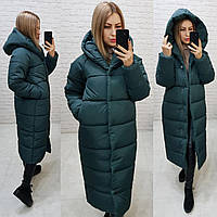 Пальто зима, артикул 521, цвет хвоя