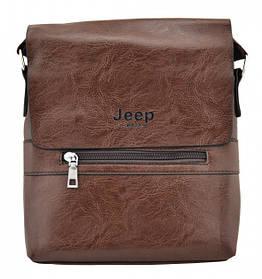 Мужская сумка Jeep Buluo 9008 КОРИЧНЕВАЯ ЧЕРНАЯ