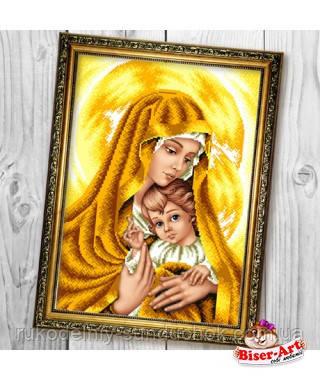 Схема для вишивки бісером Бисер-Арт Мадонна з немовлям в золотих тонах (В602)