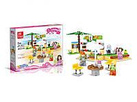 "Конструктор ""Dream Town: пляжный бар"", 217 деталей, для девочек аналог Лего | Jie Star"