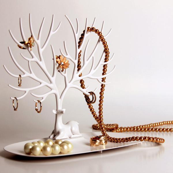 Подставка для украшений My little Deer tray   подставка для бижутерии дерево олень