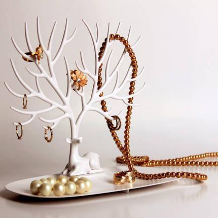 Подставка для украшений My little Deer tray   подставка для бижутерии дерево олень, фото 2