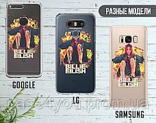 Силиконовый чехол для Samsung J600 Galaxy J6 (2018) Билли Айлиш (Billie Eilish) (28225-3389), фото 3