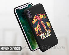 Силиконовый чехол для Xiaomi Redmi Note 6 Билли Айлиш (Billie Eilish) (13032-3389), фото 3