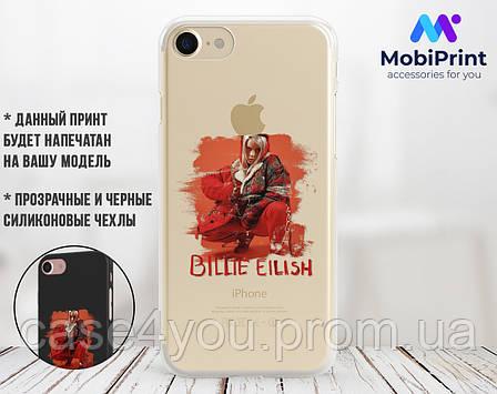 Силиконовый чехол для Apple Iphone 7 Билли Айлиш (Billie Eilish) (4007-3390), фото 2