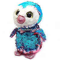 Мягкая игрушка Пингвин 1 из пайеток-перевертышей Глазастики