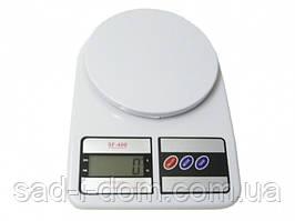 Электронные весы кухонные Electronic Kitchen Scale SF-400 7 кг с дисплеем Белый