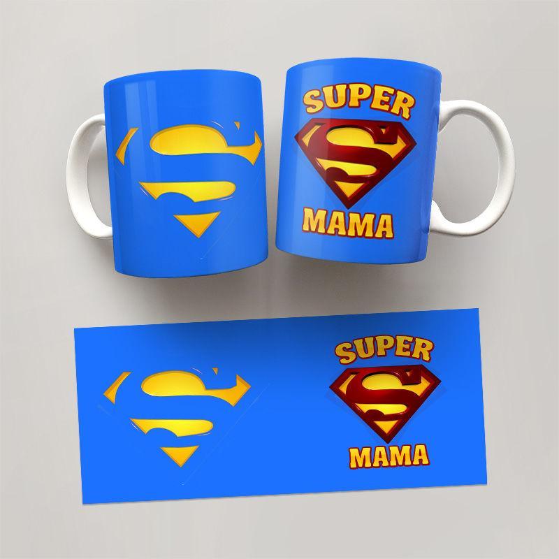 Чашка, Кружка Super Мама, №2 Маме