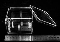 Акриловый бокс, витрина с крышкой (9,5 х 9,5 х 5,5 см.), фото 1