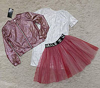 Модный комплект на девочку подростка 3 в 1 Размеры 128- 146