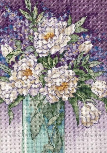 Набор для вышивания крестом Classic Design 4473 Белые пионы