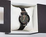 Женские наручные часы Geneva, черный корпус с черным циферблатом, фото 2