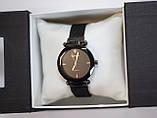 Женские наручные часы Geneva, черный корпус с черным циферблатом, фото 3