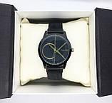 Женские наручные часы в стиле Саlvin Кlein (Кельвин Кляйн), черные с золотом, фото 5