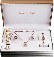 Женский подарочный набор GINO MILANO MWF14-101 (наручные часы, колье, серьги, кольцо и браслет)