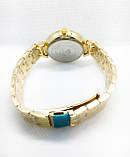 Женские наручные часы Versace (Версаче), золото с черным циферблатом, фото 4