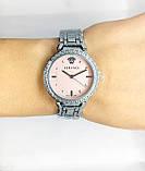 Женские наручные часы Versace (Версаче), серебро с розовым циферблатом, фото 5