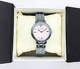 Женские наручные часы Versace (Версаче), серебро с розовым циферблатом, фото 6