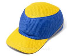Каска-бейсболка захисна ударостійка (жовто-синя)   Каска-бейсболка захисна ударостійка жовто-синій