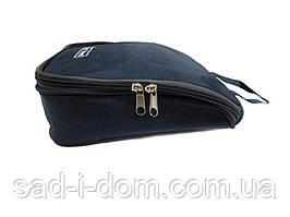 Органайзер косметичка дорожная с крючком HLV R15604 23x22x7 см Синий