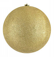 Елочный шар с блестками HLV 8585 25 см Gold