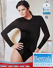 Боді з довгим рукавом комбідрес Berrak 2107 Туреччина S, M, L, XL, фото 2