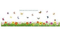 Декоративная  наклейка  цветочный плинтус (150х40см)