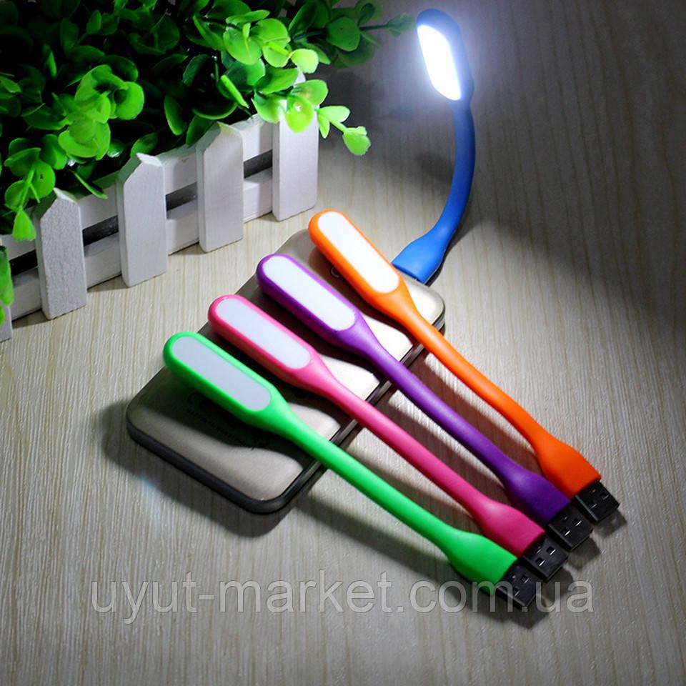 Гибкий светодиодный USB фонарик для ноутбука, Powerbank, телефона - фото 3