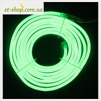 Гирлянда светодиодная LED Лента (Гибкий Неон) Зеленый 10 метров