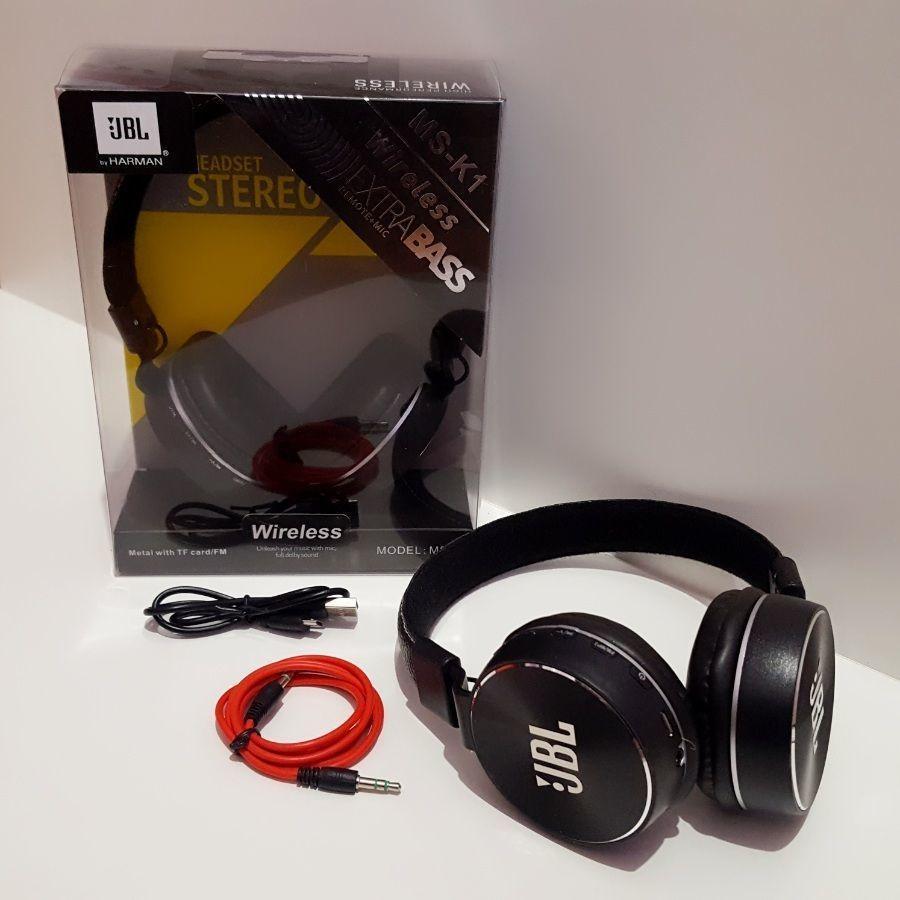 Беспроводные наушники JBL MS-K1 Extra BASS. Bluetooth FM MP3 Реплика