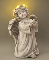 Статуэтка Ангел светящийся с голубем. Пасхальные сувениры, фото 1