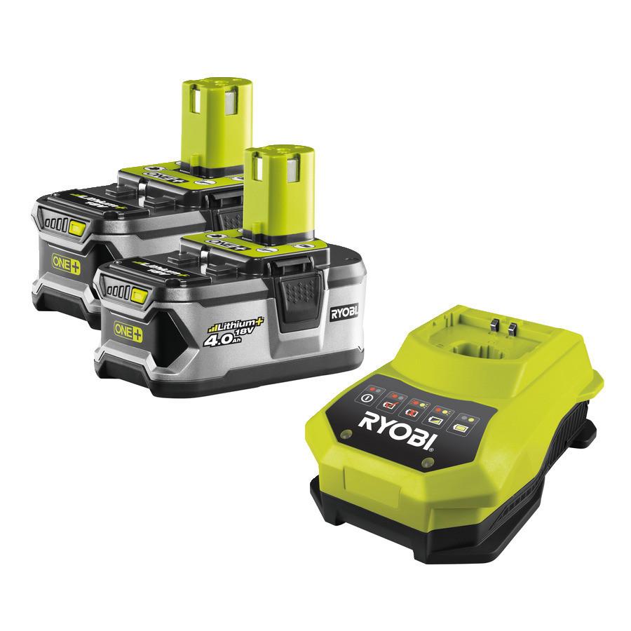 Аккумулятор (18 В; 4.0 А*ч; Li-Ion) 2 шт. и зарядное устройство Ryobi RBC18LL40