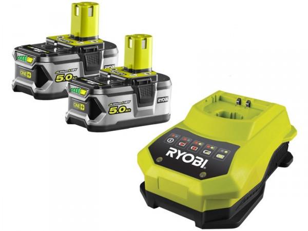 Акумулятор (18 В; 5.0 A*год; Li-Ion) 2 шт. і зарядний пристрій Ryobi RBC18LL50