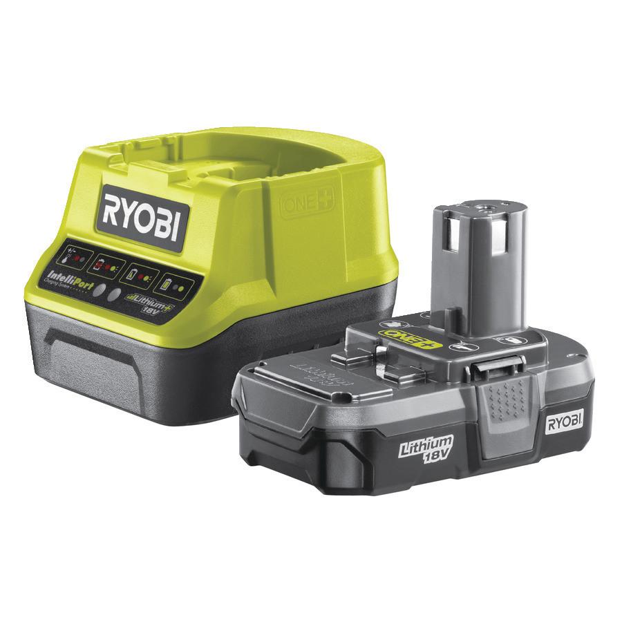 Аккумулятор (18 В; 1.3 А*ч; Li-Ion) и зарядное устройство Ryobi RC18120-113