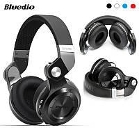 Складные беспроводные bluetooth наушники-гарнитура Bluedio T2+ 36 часов музыки