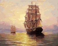 Картина по номерам Белоснежка На водной глади 40х50 см (RN 393)