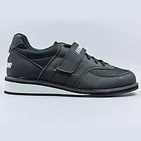 Штангетки обувь для тяжелой атлетики Hong Gang OB-0192 (р-р 40-45) (верх-PU, подошва TPU, черный)