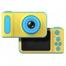 Детский цифровой фотоаппарат Smart Kids Camera V7 желто-голубой