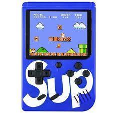 Портативная игровая приставка Game Box Sup dendy 400в1 Супер Марио синяя