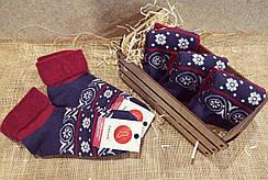 Махрові жіночі шкарпетки Смалій з відворотом