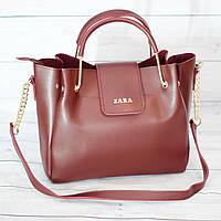 Женскаяmini сумка Zara, Зара, бордовая