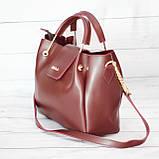 Женская mini сумка Zara, Зара, бордовая, фото 2