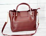 Женская mini сумка Zara, Зара, бордовая, фото 3