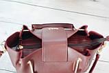 Женская mini сумка Zara, Зара, бордовая, фото 4